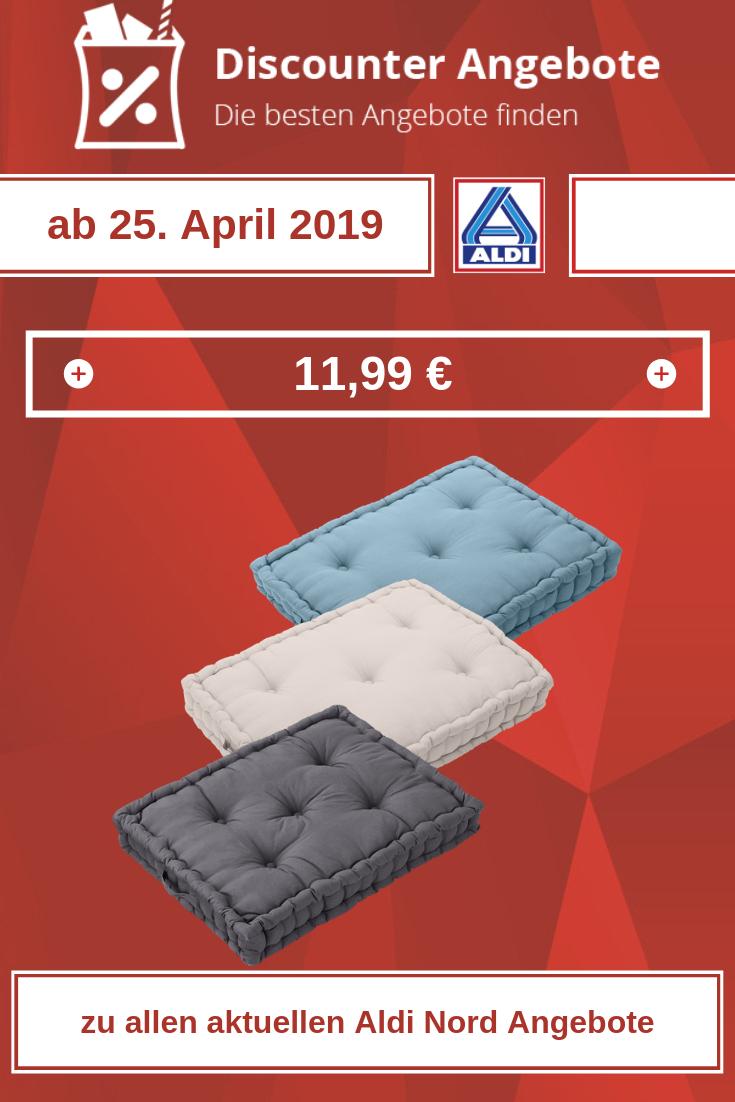 Paletten-Sitzkissen von Aldi ab 25. April 2019