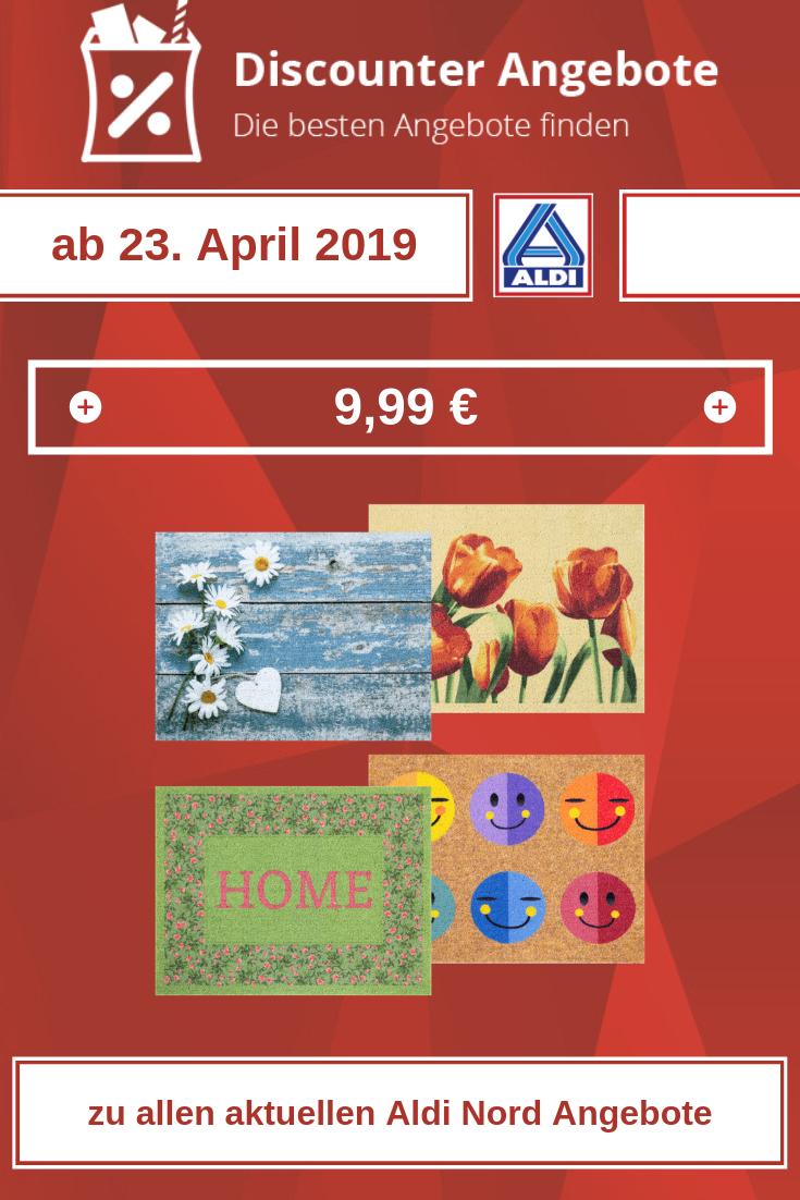 Fußmatte Frühjahr von Aldi ab 23. April 2019