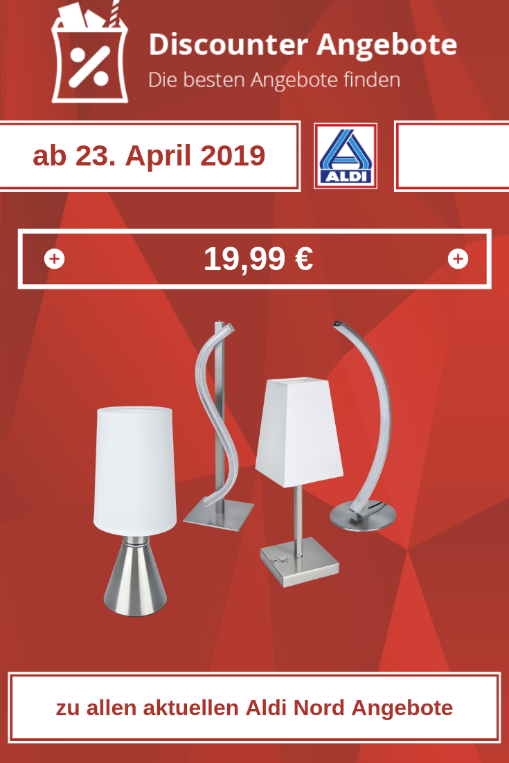 LED-Tischleuchte ab 23. April 2019