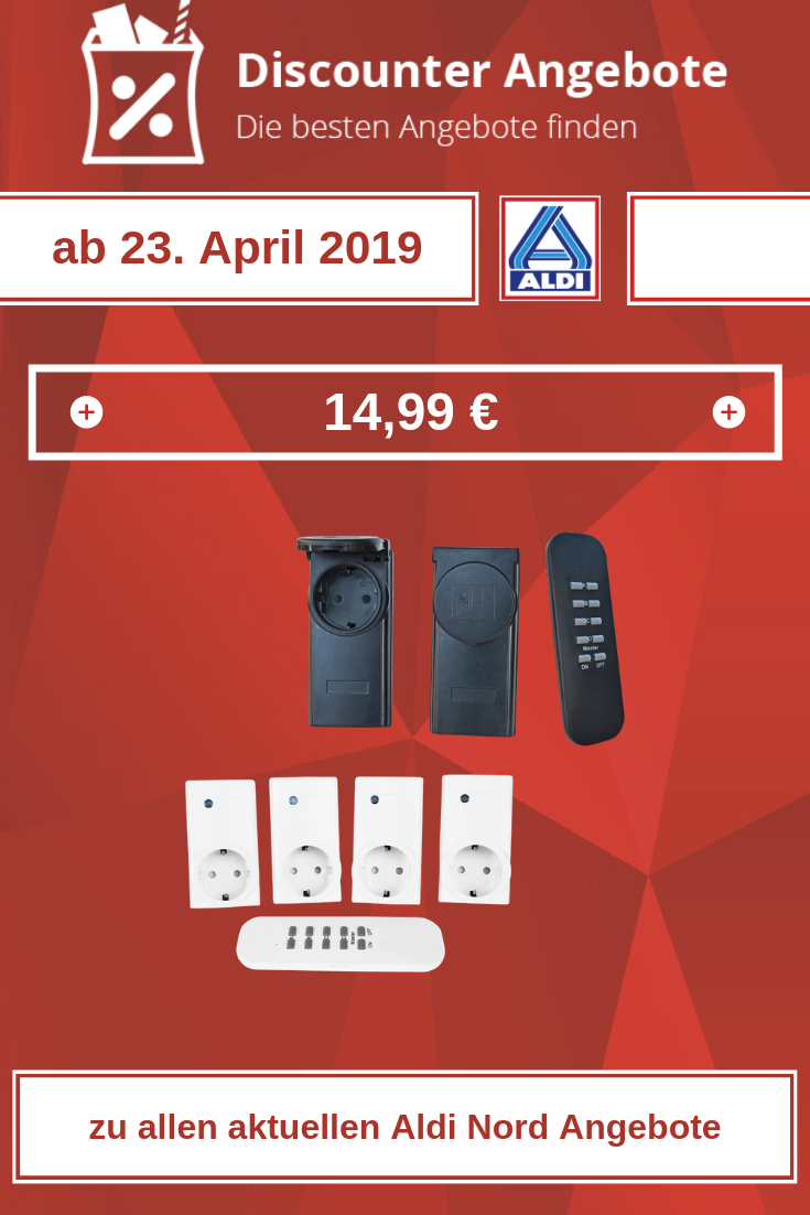 Funk-Steckdosen-Set von Aldi ab 23. April 2019