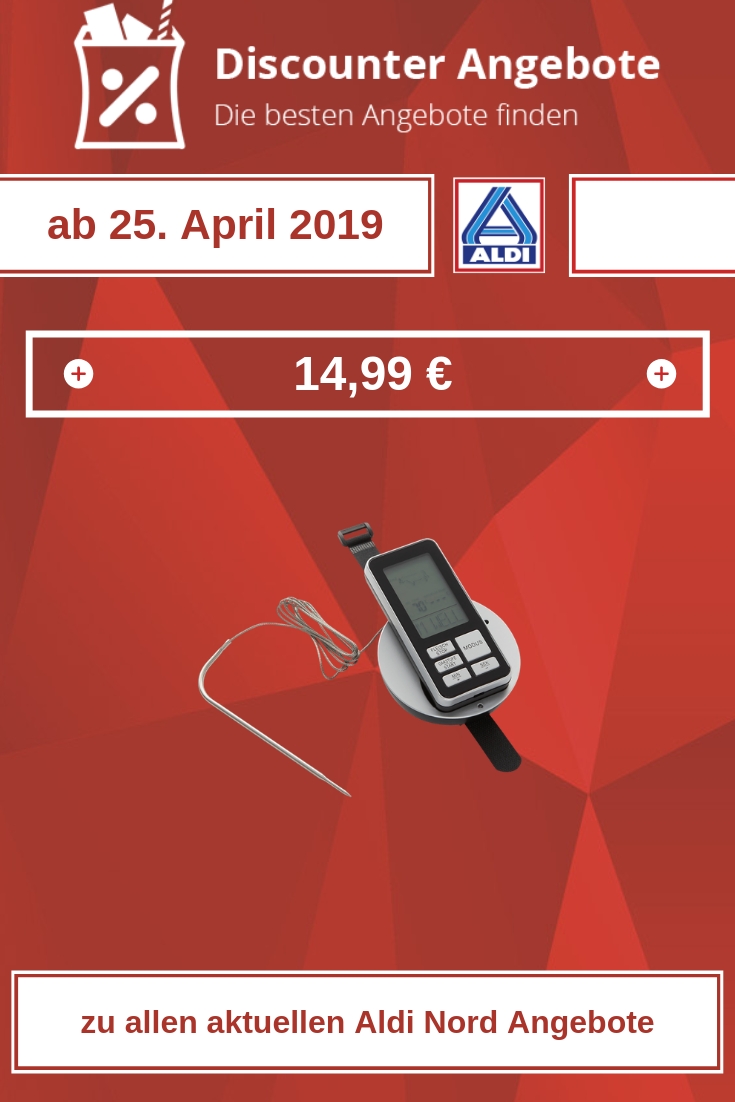 Funk-Grill-Thermometer von Aldi ab 25. April 2019