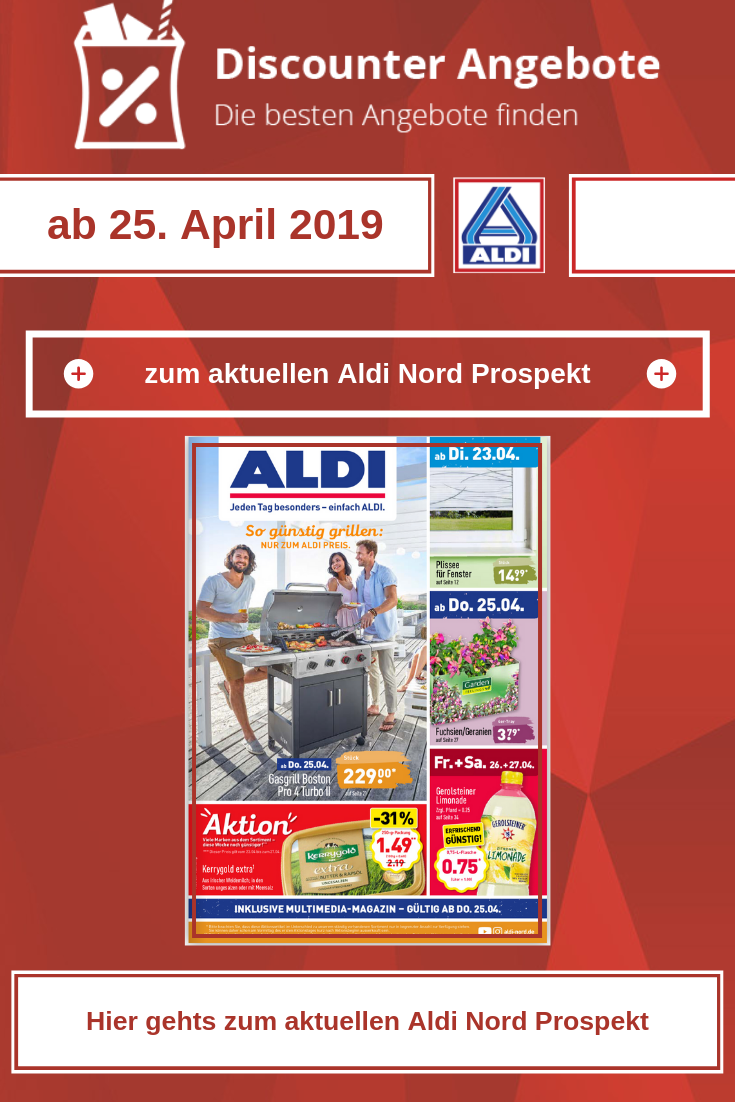 Aldi Nord Prospekt ab dem 25. April 2019